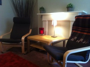 Hypnotherapy room at Canonbury Clinic