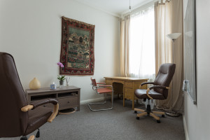 Hypnotherapy room at Clerkenwellbeing